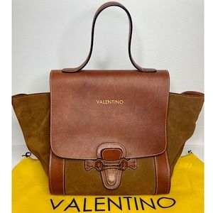 Mario Valentino 'Amy' Leather/Suede Trapeze Bag